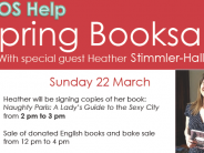 Spring Book Sale 2015, with appearance by author Heather Stimmler-Hall