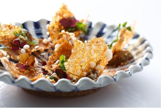 Quinoa craquant Aubergine Saté © Rina Nurra -