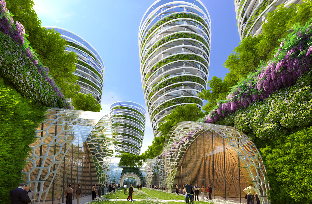 Image : Antismog Towers by Vincent Callebaut Architectures -www.vincent.callebaut.org