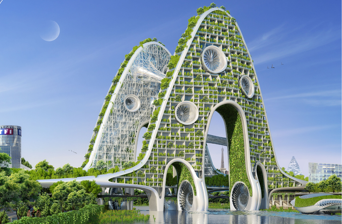 Image : Bridge Towers by Vincent Callebaut Architectures -www.vincent.callebaut.org