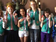 USA GIRL SCOUTS IN PARIS RECEIVE BRONZE AWARD