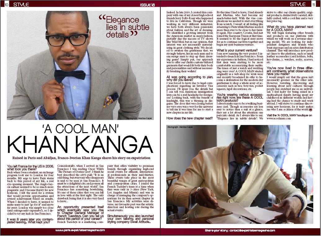 Expatriates Magazine KK spread