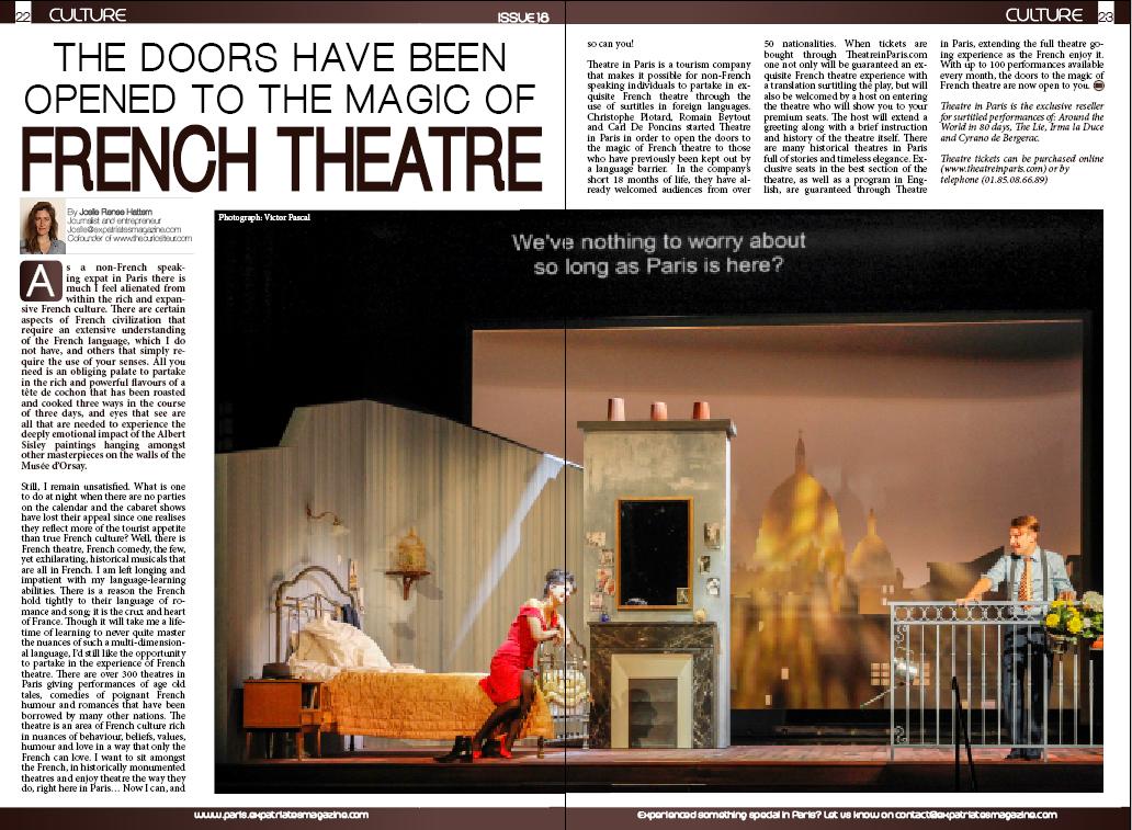 Theatre in Paris Expatriates Magazine