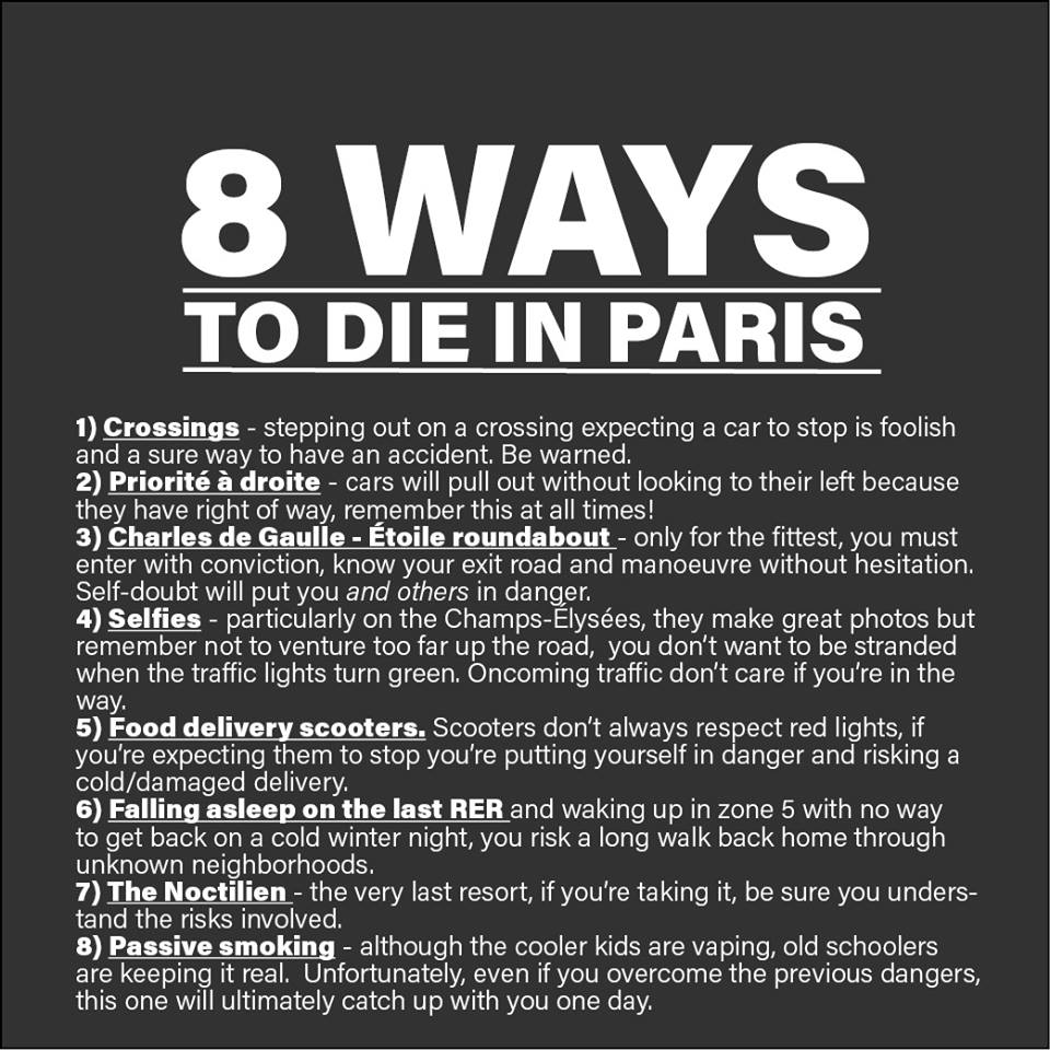 8 ways to die in Paris