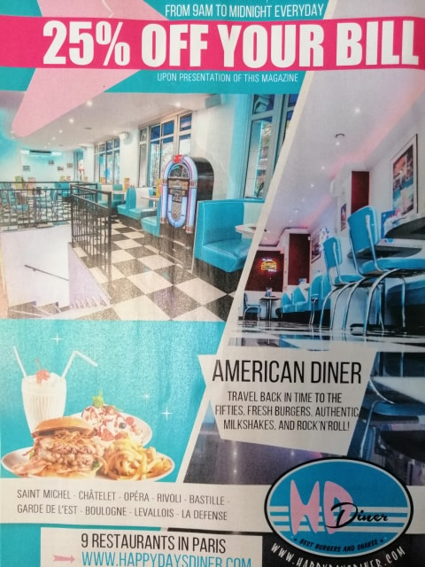 25% off your menu at HD Diner