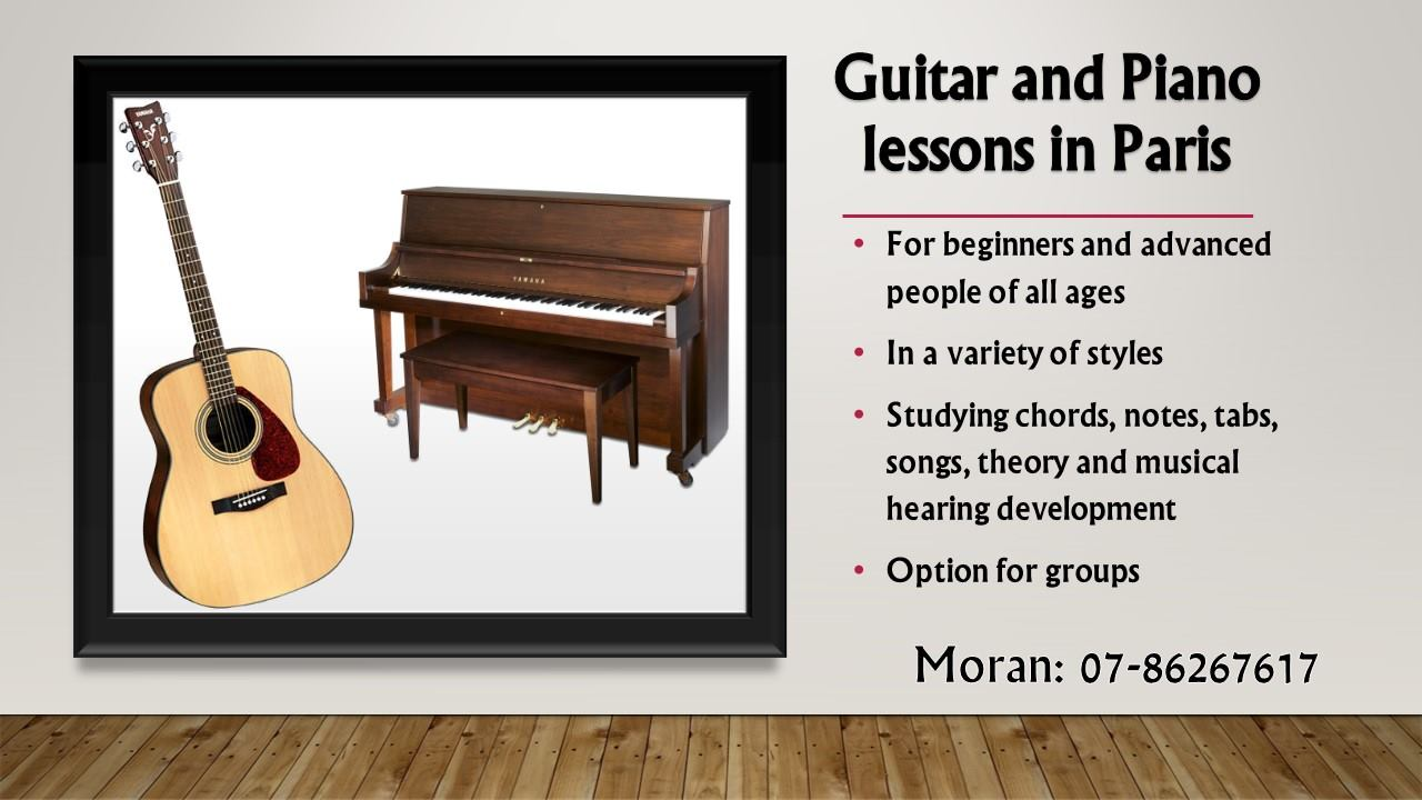 50% off your first guitar or piano lesson